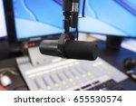 microphone in modern radio...   Shutterstock . vector #655530574