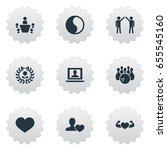 vector illustration set of... | Shutterstock .eps vector #655545160
