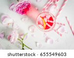 summer refreshment drinks....   Shutterstock . vector #655549603
