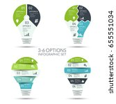 modern light bulb infographic... | Shutterstock .eps vector #655551034