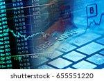 notebook computer keyboard.... | Shutterstock . vector #655551220