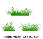illustration of cute grass set  ... | Shutterstock . vector #655553569
