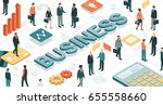 business people working... | Shutterstock .eps vector #655558660
