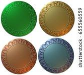 a set of four 3d rendered... | Shutterstock . vector #655560559