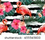 beautiful seamless vector... | Shutterstock .eps vector #655565833
