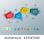 collection of vector... | Shutterstock .eps vector #655567630