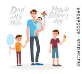 cartoon characters of family.... | Shutterstock .eps vector #655569364