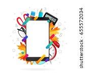 back to school concept.... | Shutterstock .eps vector #655572034