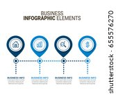 business infographic design | Shutterstock .eps vector #655576270