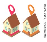 home location concept  set with ... | Shutterstock .eps vector #655576693