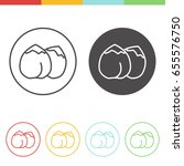 vector set of chickpea icons in ... | Shutterstock .eps vector #655576750