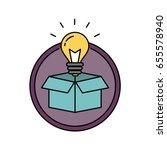 thinking outside the box retro... | Shutterstock .eps vector #655578940