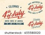 4th of july design in retro... | Shutterstock .eps vector #655580020