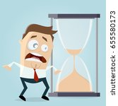 time is running out hourglass...   Shutterstock .eps vector #655580173