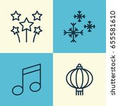 christmas icons set. collection ... | Shutterstock .eps vector #655581610