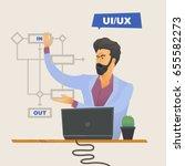 user experience designer... | Shutterstock .eps vector #655582273