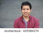 beauty portrait of handsome... | Shutterstock . vector #655584274