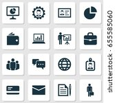 trade icons set. collection of...   Shutterstock .eps vector #655585060