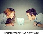 finances in divorce concept.... | Shutterstock . vector #655594930