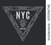 New York Tee Print With The...