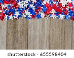 patriotic usa red  white and... | Shutterstock . vector #655598404