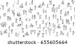 seamless banner of tiny... | Shutterstock .eps vector #655605664