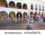 valladolid  mexico   april 2 ... | Shutterstock . vector #655605670