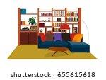 seventies 1970s interior design ...   Shutterstock .eps vector #655615618