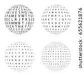 set of halftone circles... | Shutterstock .eps vector #655621876