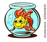 cute goldfish domestic pet... | Shutterstock .eps vector #655624633