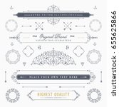 set of vintage decorations... | Shutterstock .eps vector #655625866