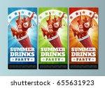 summer drinks party   flyers... | Shutterstock .eps vector #655631923