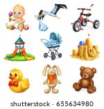 children playground. kids and... | Shutterstock .eps vector #655634980