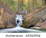 Lower Tews Falls in Hamilton Ontario Canada - stock photo