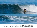 bodyboarder in action on the...   Shutterstock . vector #655640134
