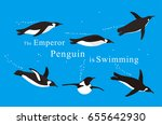 a lot of emperor penguins... | Shutterstock .eps vector #655642930