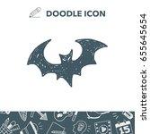 bat doodle | Shutterstock .eps vector #655645654
