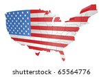 illustration of the american flag as the map of the USA - stock vector
