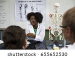 biology teacher teaching... | Shutterstock . vector #655652530