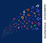 source stream of music icons.... | Shutterstock .eps vector #655658890