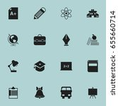 set of 16 editable school icons.... | Shutterstock .eps vector #655660714