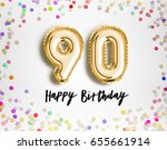 90th birthday celebration with... | Shutterstock . vector #655661914