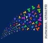 source stream of customer... | Shutterstock .eps vector #655661950