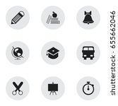 set of 9 editable education... | Shutterstock .eps vector #655662046