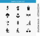 set of 12 editable agriculture...