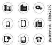 set of 9 editable gadget icons. ...