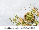 raw pumpkin seeds  food...   Shutterstock . vector #655665388