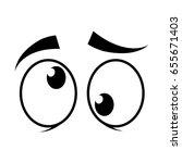 cartoon eyes icon | Shutterstock .eps vector #655671403