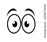 cartoon eyes icon | Shutterstock .eps vector #655671454