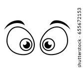 cartoon eyes icon | Shutterstock .eps vector #655672153